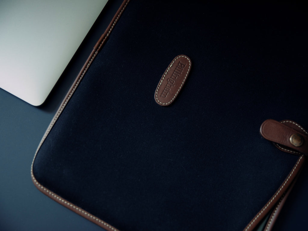 The Billingham Laptop slip with MacBook Pro.