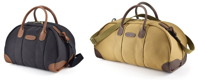 Billingham Overnighter in Black FibreNyte / Tan Leather & Billingham Weekender in Khaki FibreNyte / Chocolate Leather