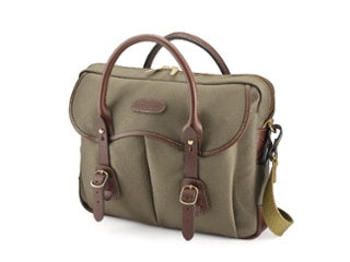 Billingham Thomas Briefcase in Sage FibreNyte / Chocolate Leather