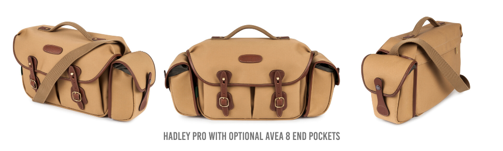 Billingham Hadley Pro Camera Bag with optional AVEA 8 End Pockets