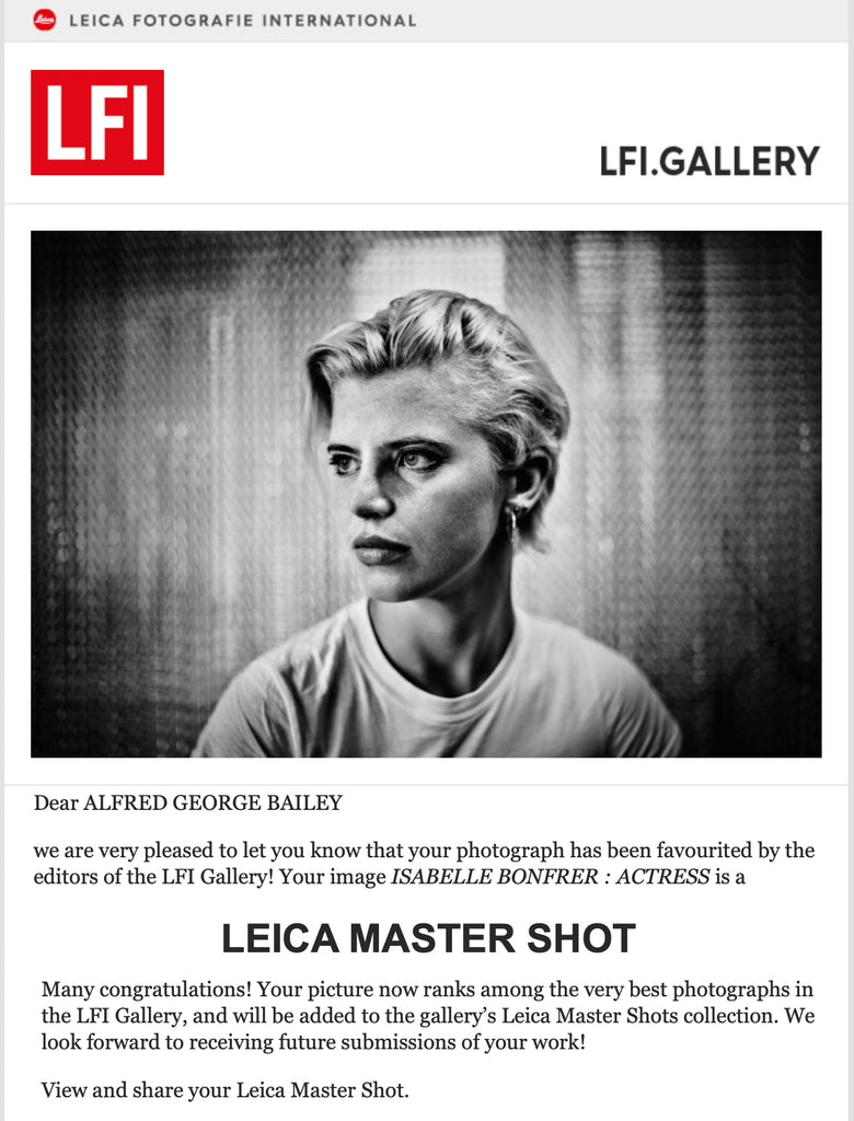 Leica Master Shot - Isabella Bonfrer - By Alfred George Bailey