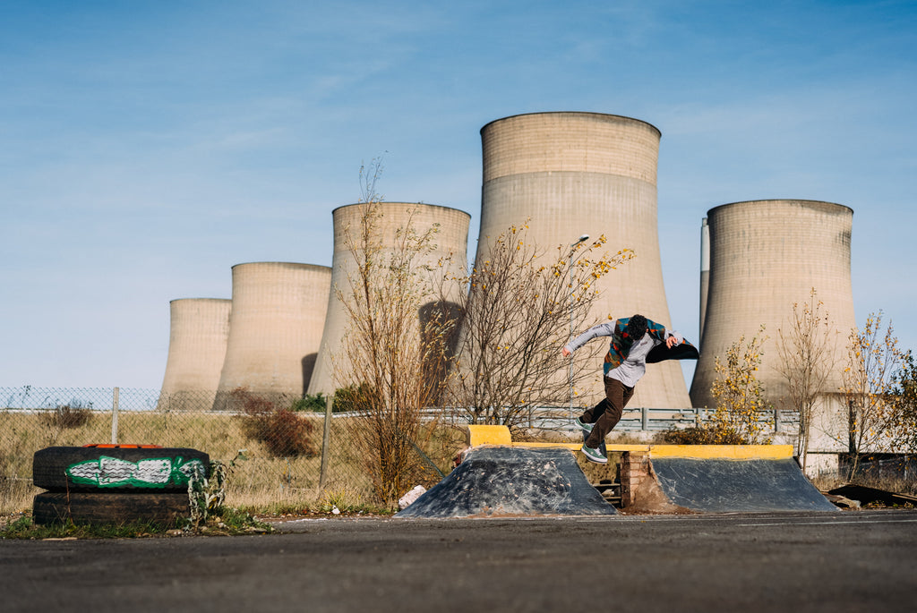 The most recent self-assigned social media projects featuring pro skateboarder Sam Beckett at a DIY skatepark in Nottinghamshire – Photo by Chris Johnson.