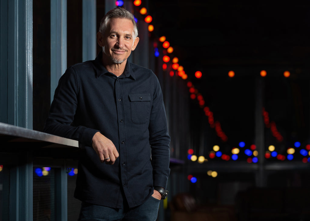 Gary Lineker shot at 'Dinerama' in Shoreditch for an editorial feature in 'Foodism Magazine' – Photo by Chris Johnson.
