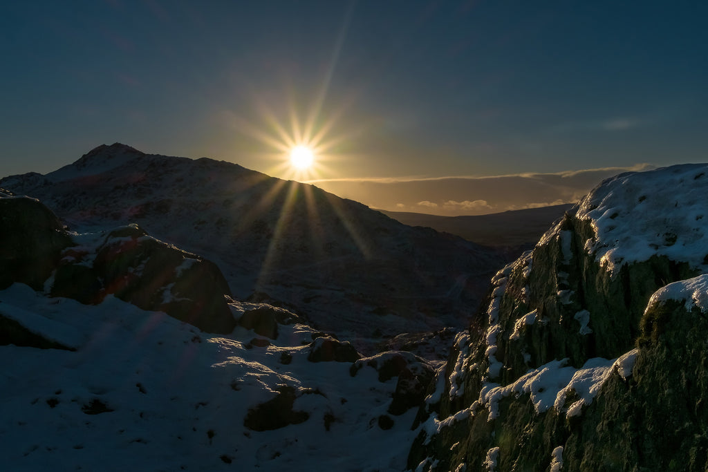 Sunset on a snowy Duddon Valley - Photo by Mark Gilligan