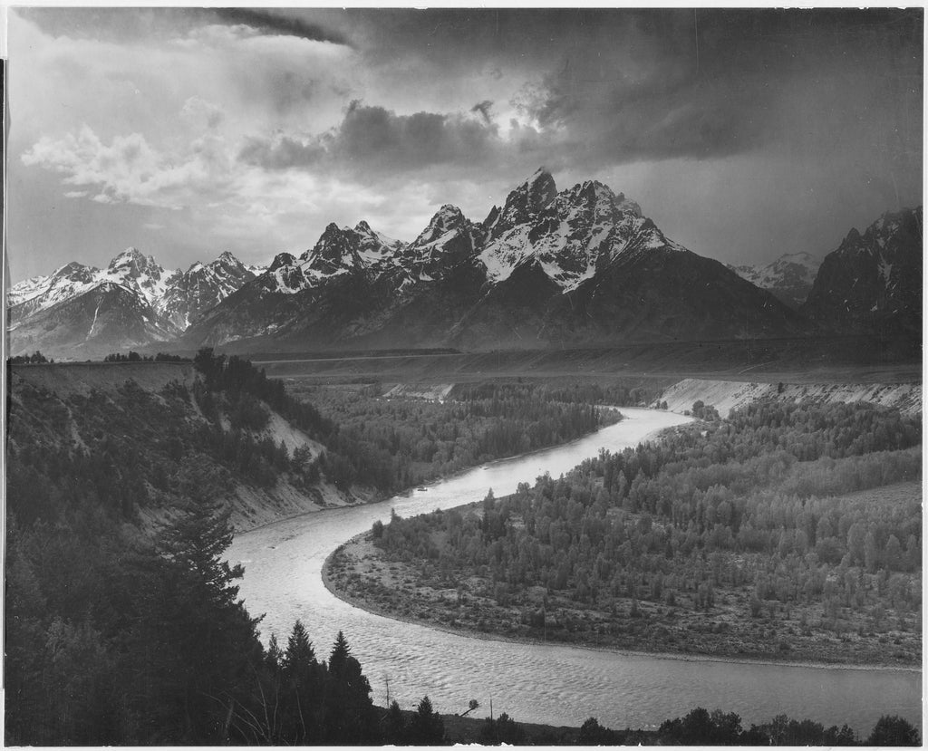 The Tetons - Snake River by Ansel Adams