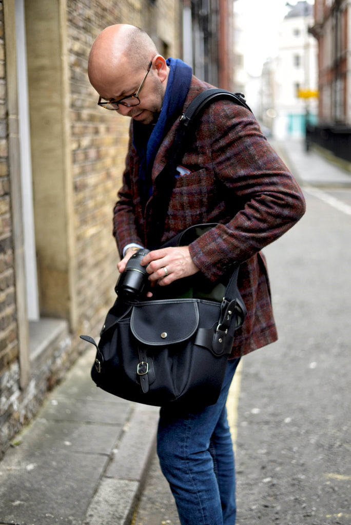 Lee Orsbourne with his Billingham Hadley One Camera Bag - Photo by William Osborne