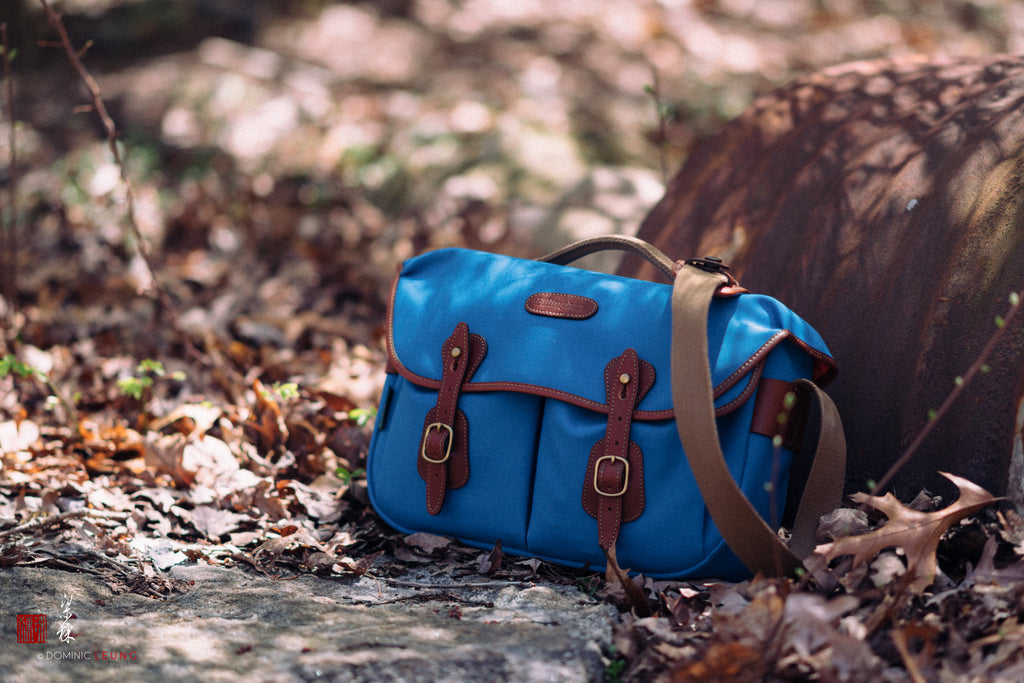 Billingham Hadley Pro Camera Bag - Imperial Blue Canvas / Tan Leather.  Photo by Liang Dong.