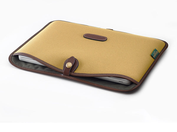 "13"" laptop Slip Khaki FibreNyte/Chocolate Leather"
