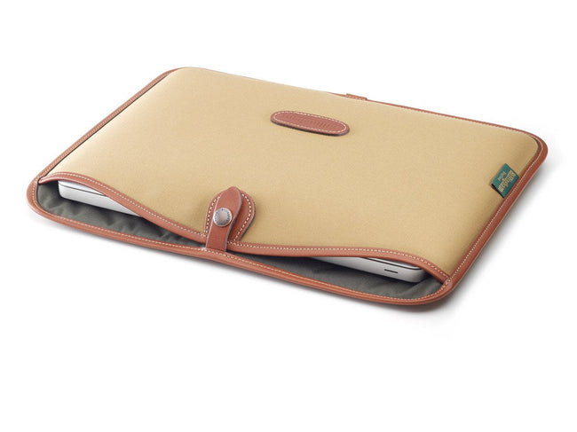 "13"" Laptop Slip Khaki Canvas/Tan Leather"