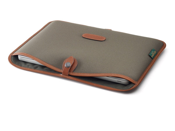 "13"" Laptop SLip Sage FibreNyte/Tan leather"