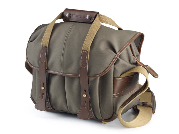 207 Camera Bag - Sage Fibrenyte/Chocolate Leather