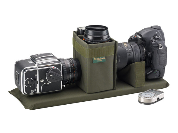 Billingham 550 with Hassleblad and Nikon Camera layout