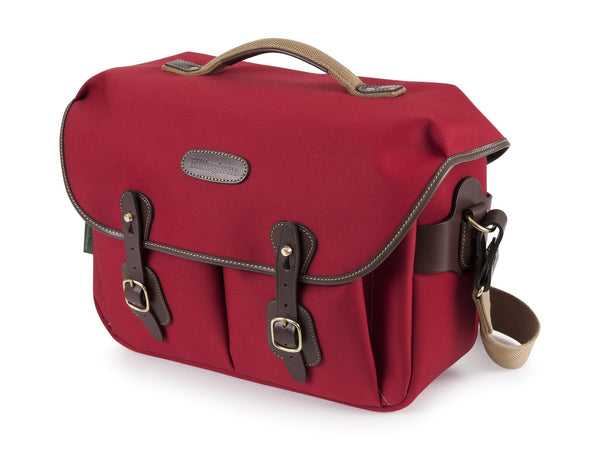 Billingham Hadley One - Burgundy Canvas/Chocolate Leather