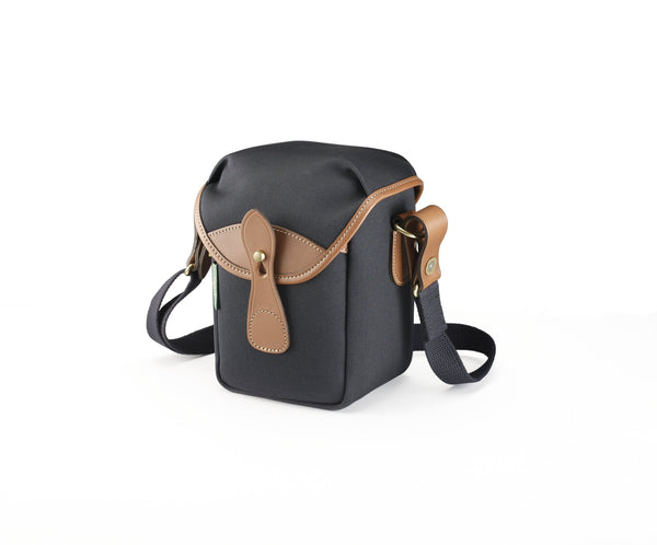Billingham 72 Bag in Black Canvas and Tan Leather