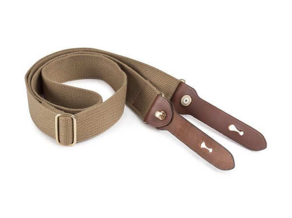 Billingham Stowaway Sling - Khaki Webbing/Tan Leather