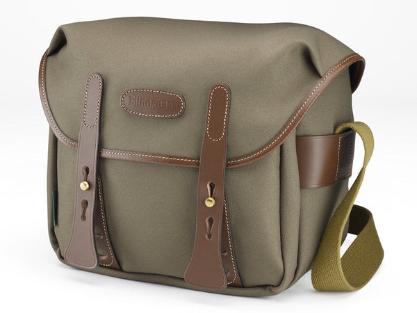 Billingham f2.8 Camera Bag - Sage FibreNyte / Chocolate leather