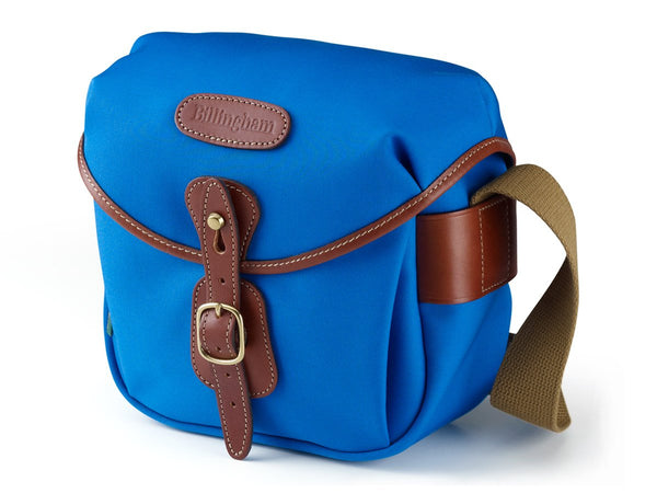 Billingham Hadley Digital Camera Bag - Imperial Blue Canvas / Tan Leather