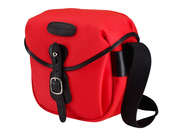 Billingham Hadley Digital Camera Bag - Neon Red Canvas / Black Leather