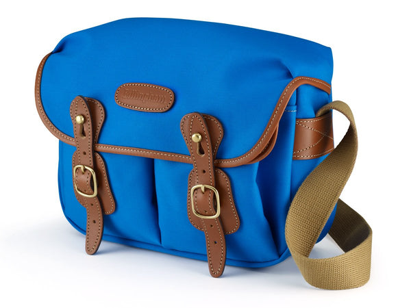 Billingham Hadley Small Camera Bag - Imperial Blue Canvas/Tan Leather