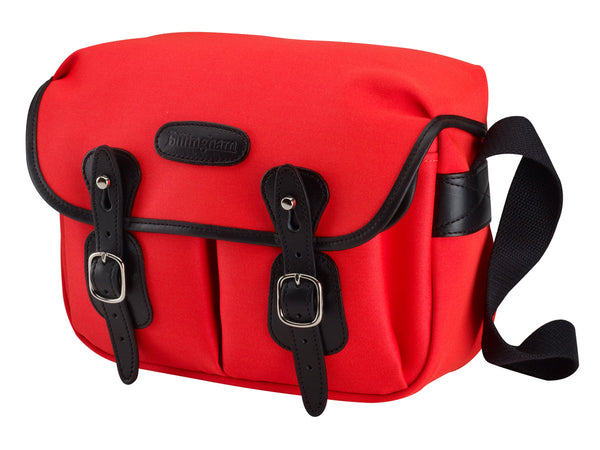 Billingham Hadley Small Camera Bag - Neon Red Canvas/Black Leather