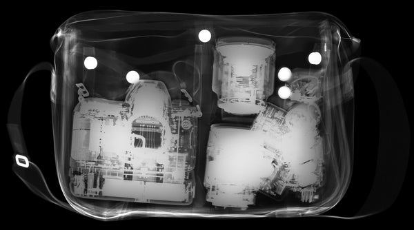 X-Ray of a Billingham Hadley Original Camera Bag