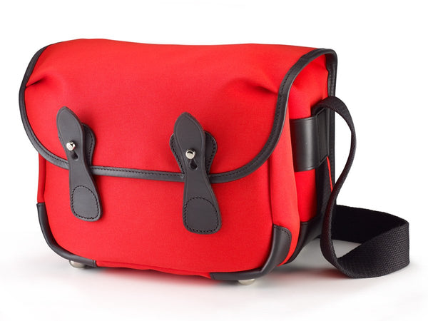Billingham L2 Camera Bag - Neon Red Canvas/Black leather