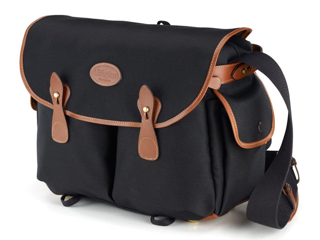 Billingham Packington Camera and Shoulder Bag - Black Canvas / Tan Leather