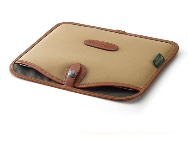 Billingham Tablet Slip Khaki Canvas/Tan Leather