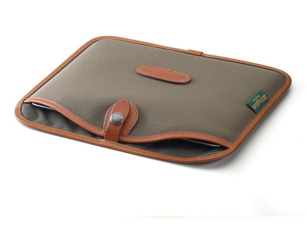 Billingham Tablet Slip Sage FibreNyte/Tan Leather