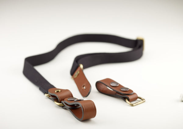 Billingham Waist Strap attachment - Black/Tan