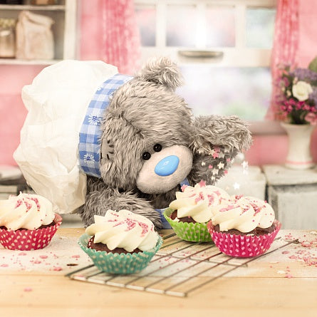 Bear with Cupcakes Birthday Card (3D Holographic)