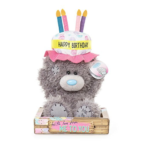 Happy Birthday Cake Hat - 6'' Bear
