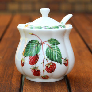 Classic Jam Pot and Spoon - Raspberry