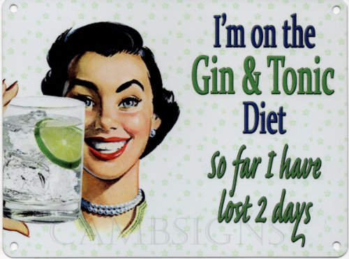 I'm on the Gin and Tonic Diet (Small)