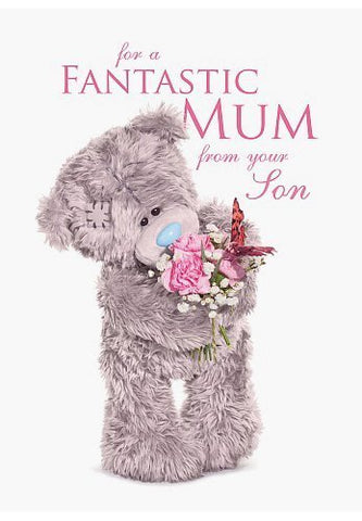 Fantastic Mum - From your Son - Mother's Day Card (3D Holographic)