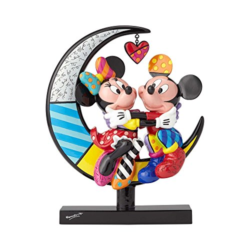 Mickey and Minnie Mouse on Crescent Moon