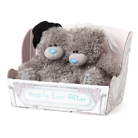 Wedding Bride and Groom Teddies - 4'' Bear Couple