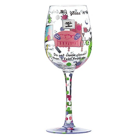 Mummy's Time Out Wine Glass