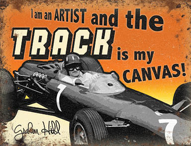 Motor Racing - I Am An Artist and the Track is my Canvas (Small)
