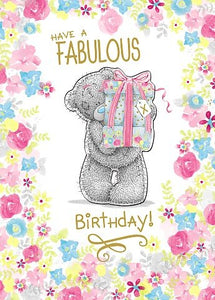 Bear with Gifts - Birthday Card