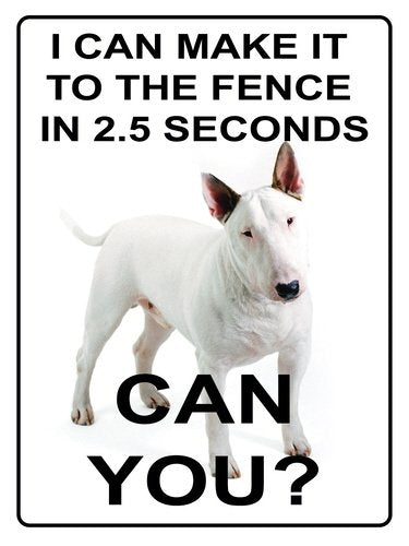 I can make it to the fence in 2.5 seconds (Small)