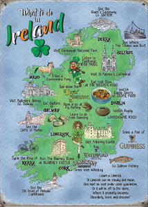 What to do in Ireland - Map (Small)