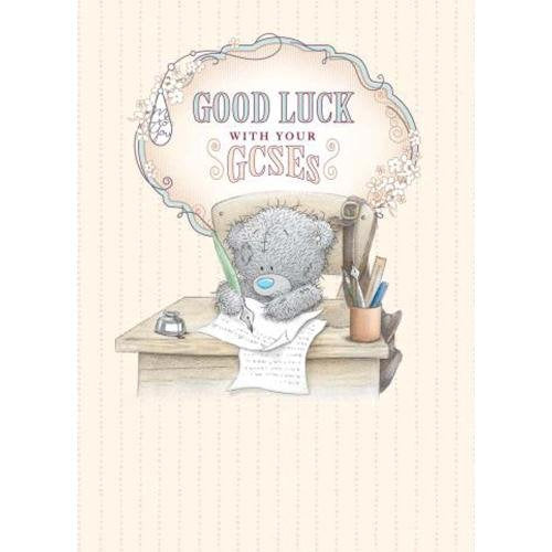 Bear writing - Good Luck with Your GCSEs Card