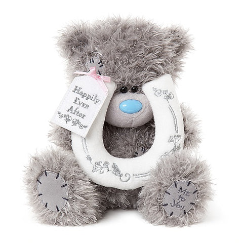 Wedding Teddy with Horseshoe - 9'' Bear