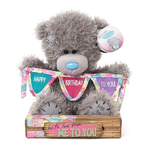 Happy Birthday Bunting - 7'' Bear