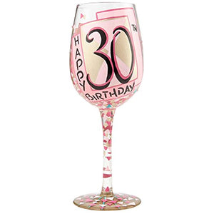 30th Birthday Wine Glass