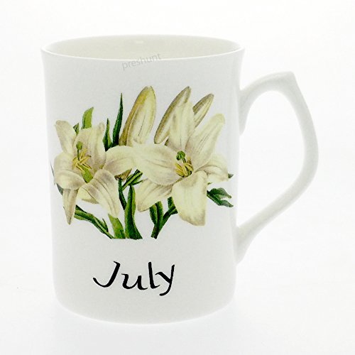 Flower of the Month Fine Bone China Mug - July