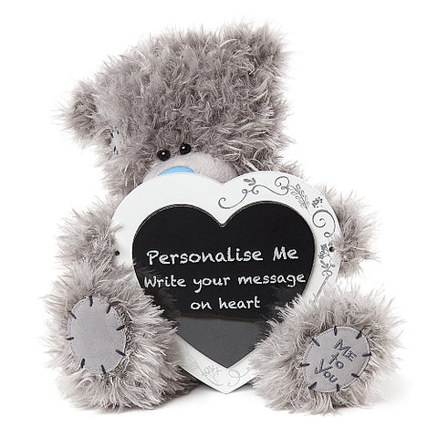 Wedding Teddy with Message Plaque - 9'' Bear