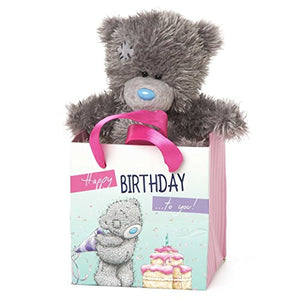 Happy Birthday - 5'' Bear in Gift Bag