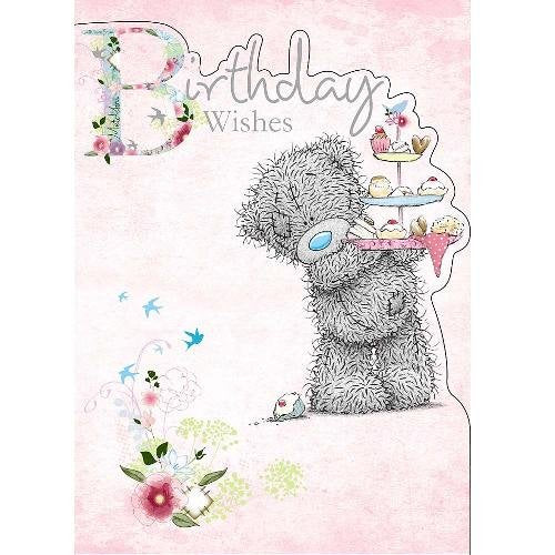Bear with Cupcake Stand - Birthday Card